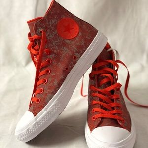 Converse Ctas II HI Signal Red/Pure Sil Ver/White